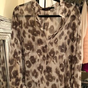 Ark & Co. leopard Blouse
